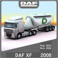 2008 DAF XF bulk tanker