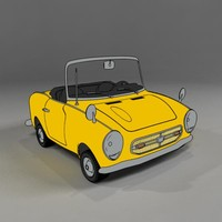 cartoon honda s800 toon 3ds