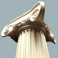 maya ionic corner column