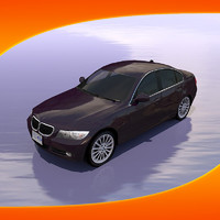3d model bmw 330 car