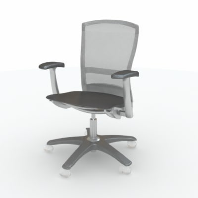 3d knoll life chair - Knoll Life Chair... by Bluespring Creative