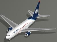 3d b 767-200 er aeromexico