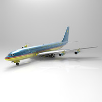 707 aircraft transport 3d model
