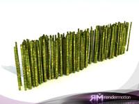 3d model d2 c1 09 bamboo-bambú