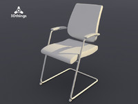 Black Dot Cantilever chair with armerests