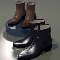 3ds max western boots