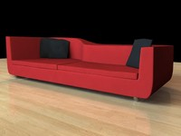 contemporary couch 3d model
