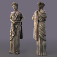 Greek Girl Sculpture