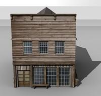 historical western building 3d model