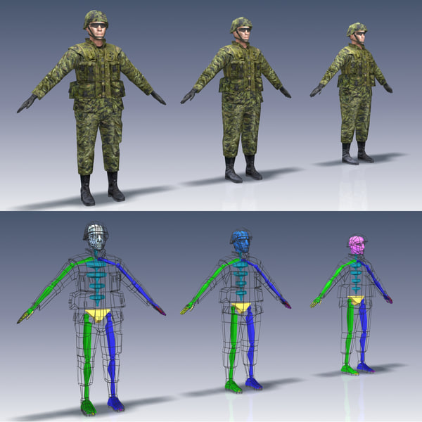 3d model soldier canadian - Canadian Infantry Soldier... by Bounding Box