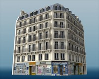 Typical Paris building
