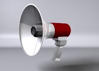 3d c4d megaphone loudspeaker speaker