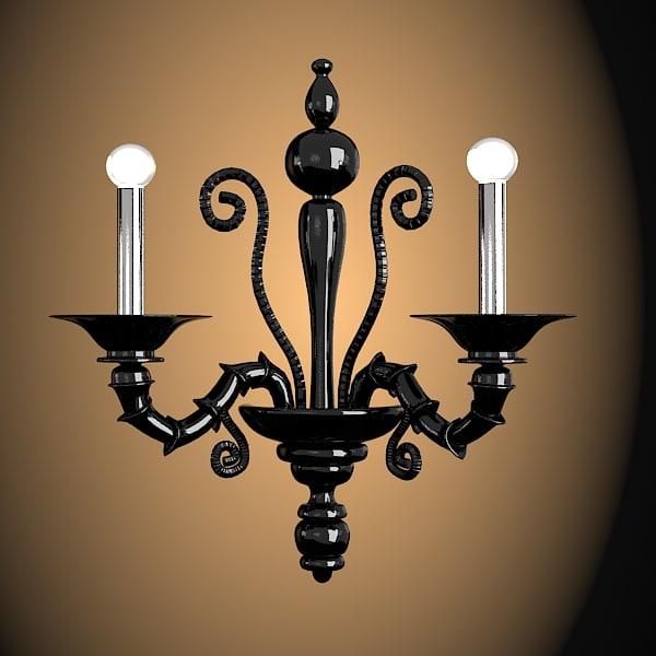 Barovier Toso Taif  murano glass wall lamp