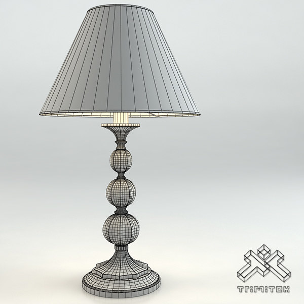 classic table lamp chelini dxf - Chelini Bianco Deco Lamp... by trimitek