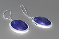 earrings blue scarab 3d model