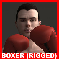 3ds max realistic boxer rigged 1