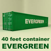40 ft container - evergreen