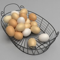egg basket 3d obj
