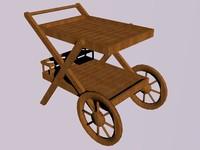 3d model flower cart
