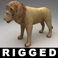 3d max rigged lion