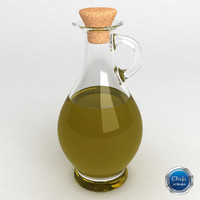 3d oil bottle model