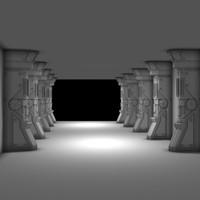 free pillar module 3d model