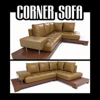 corner sofa 3d obj