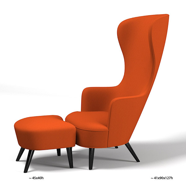 Modern high back wing chair for Modern accent chairs