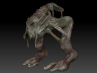 3d model monster creature