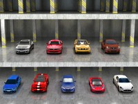 9 coupes 3d model