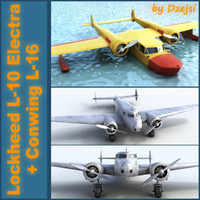 "Lockheed L-10 Electra + Conwing L-16 "" Sea duck"