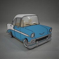 cartoon chevrolet belair rendered 3d model