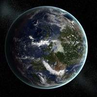 3d model earth carbonfiberous