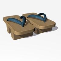 3ds max geta sandals