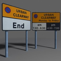 3ds max road sign coz110101399