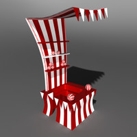 3d model circus stand