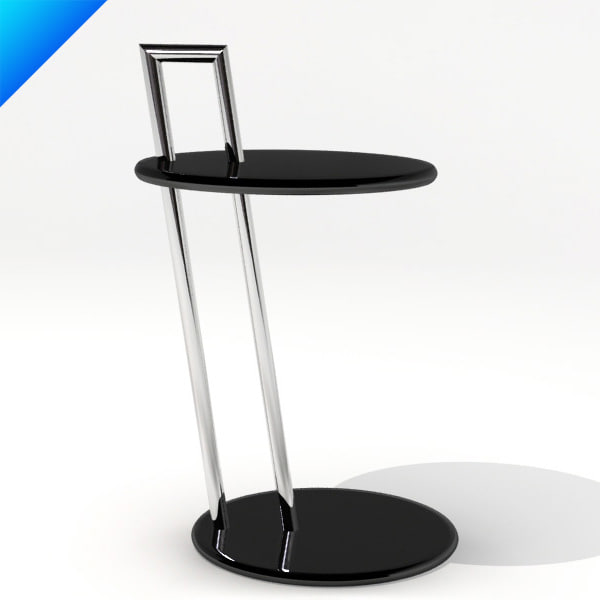 3ds max occasional table eileen gray. Black Bedroom Furniture Sets. Home Design Ideas