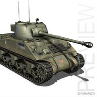 m4 sherman firefly vc 3d model