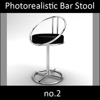 Photorealistic Bar Stool 2 vray materials