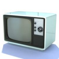 3d retro tv 11 model