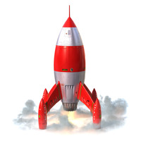 cartoon rocket 3d 3ds