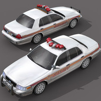 car police - sheriff 3d model