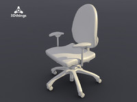conference chair dublin 3d model