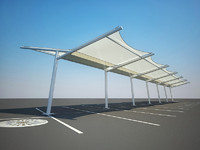Tensile Parking Shade Structure