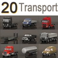 20 vehicles 3d obj