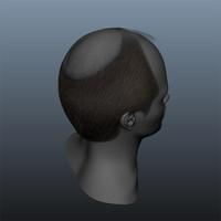 balding male hair style 3d ma