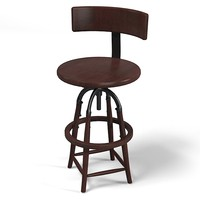 3d bar counter stool model
