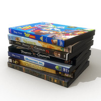 dvds covers 3d model