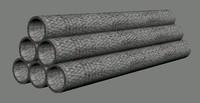 free tube stack 3d model