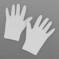 3d model magician gloves